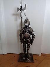 Vintage  Metal Medieval Knight In Armor Statue Figurine