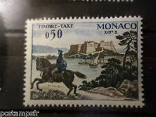 MONACO 1960, timbre TAXE 61, COURRIER à CHEVAL, neuf**, VF MNH STAMP,