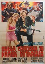 """""""A TOUT CASSER"""" Affiche originale italienne entoilée (Johnny HALLYDAY)"""