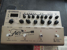 YAMAHA AG STOMP ACOUSTIC GUITAR PREAMP MULTI EFFECTS PROCESSOR PEDAL