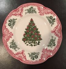 Johnson Bros OLD BRITAIN CASTLES PINK CHRISTMAS Salad Luncheon Plate