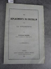 Docteur Massie Déplacements du cristallin Monoyer ophtalmologie optique médecine