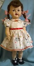 "VTG 1950's IDEAL SAUCY WALKER DOLL.22"".VINTAGE CLOTHES. VG.COND. CUTE!"
