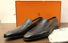 "Hermes Mens Leather ""H"" Semelle Cuir Dress Loafers Shoes Size 10.5 (44)"