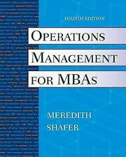 Operations Management for MBAs; 4th Edition 2009, Softcover