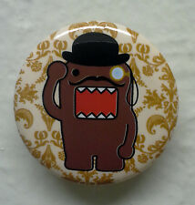 "BRAND NEW Mustache and Monocle Domo kun 1.25"" Button Pin ~ Officially Licensed"