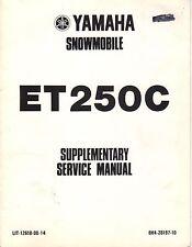 1978 YAMAHA SNOWMOBILE ET250C LIT-12618-00-14 SUPPLEMENT SERVICE MANUAL (435)