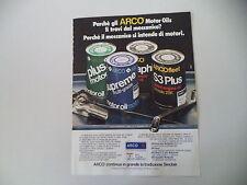 advertising Pubblicità 1982 ARCO OLIO MOTOR OIL