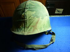 US Army USMC M-1 Steel Helmet With Liner & Cover.