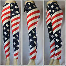 Fashion Women's Sexy American Flag Print Patriotic Start Tripes Tights Pants #2