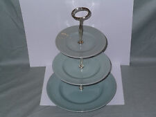 Retro Woods Ware Green Beryl 3-Tier Hostess Cake Stand (Lot A)