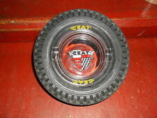 VINTAGE CAR MOTORCYCLE CEAT ADVERTISING TYRE ASHTRAY