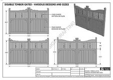 SINGLE & DOUBLE TIMBER GATES - MANY SIZES - Build & Save $ - Full Building Plans