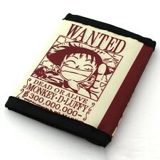 Japanese Anime ONE PIECE Luffy Cute and lovely wallet! Men Boys canvas wallet!