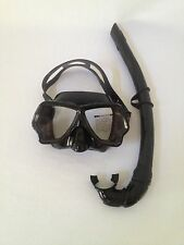Scuba, Spearfishing and Freedive Low Volume Silicone Dive Mask with Snorkel