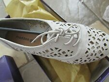 NEW MADDEN GIRL LOVA PERFORATED FLATS/ OXFORD SHOES WOMENS 8.5 FREE SHIP