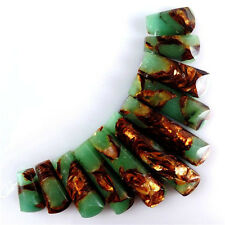 Wholesale 11pcs Pretty Aventurine & Gold Copper Bornite stone Pendant Bead MJT35