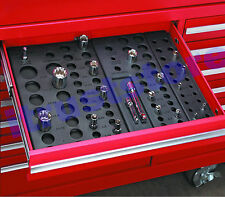 Plastic Metric and SAE Socket Holder Holding Rack Drawer Organizer for Tool Box