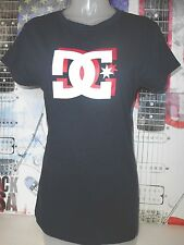 DC SHOES & CO. NEW WOMENS JUNIORS LOGO GRAPHIC TOP NAVY BLUE TSHIRT 100% COTTON