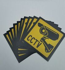 VIDEO SURVEILLANCE Security Decal  CCTV  Warning Sticker (4x4in )set of 10