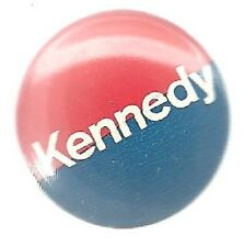 ROBERT KENNEDY FOR PRESIDENT BLUE AND ORANGE POLITICAL CAMPAIGN PIN