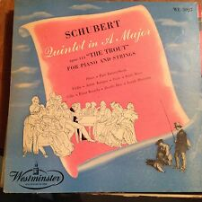 Schubert-Quintet In A Major-The Trout-Piano And Strings-LP-WestMinster