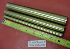"""3 Pieces 1"""", 3/4"""" & 1/2"""" C360 BRASS SOLID ROUND ROD 8"""" long New Lathe Bar Stock"""