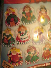 Design Works Lots Of Angels Felt Craft Ornament Kit- Makes 13 of 3x4 Inches