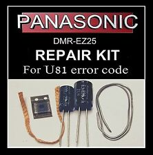 U81 error code repair kit DMR-EZ25 Panasonic dvd recorder fault inc MD5001t