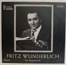 """FRITZ WUNDERLICH - EIN SÄNGERPORTRAIT 12"""" LP (e498)"""