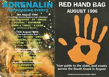 "(RAVE FLYER) 1996 ""RED HAND BAG"" @ AUGUST 96."
