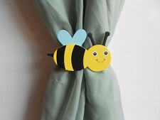 Nursery Curtain Tie Backs - 2pc Set Nursery Decor - Bumble Bee