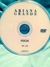Ariana Grande  DVD single FOCUS  music video not a CD
