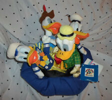 "Donald Duck 65 Years Disney Sailor 9"" 4 Ducks Plush Soft Toy Stuffed Animal"