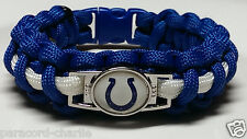 Indianapolis Colts Royal Blue & White Paracord Bracelet OR Lanyard OR Key Chain