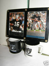 NFL Raiders .  .Sealed upper-deck cards / small raider cups    NFL Collector