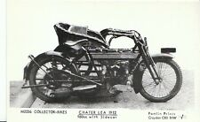 Bike Postcard - Chater Lea 1912 - 960cc With Sidecar   A5687