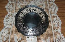 RARE TO FIND VINTAGE SILVER PLATE FILIGREE FOOTED BOWL/DISH STAMPED DENMARK #388