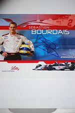 Sebastien Bourdais signed in person Race sheet F1  Indy Car - CART - Formula One