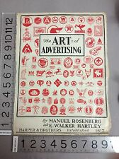 Cover Only The Art Of Advertising By Manuel Rosenberg & E. Walker Hartley 1930