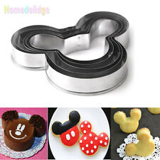 5Pcs Mickey Mouse Cutter Sugarcraft Cake Decorating Cookies Pastry Mold Baking