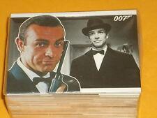 """James Bond """"héroes y villanos de la base completa Conjunto de 81 tarjetas comerciales películas de culto"""