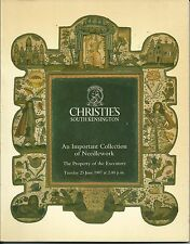 RARE - CHRISTIE'S SK Important Needlework Collection Auction Catalog 1987