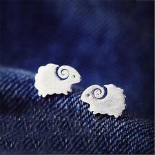 1Pair Women Cute Sheep Earrings Fashion Mini Silver Ear Studs Earrings Jewelry