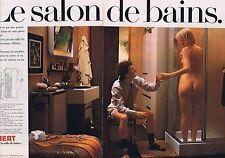 PUBLICITE ADVERTISING 045 1978 ALLIBERT le salon de bain (2 pages)