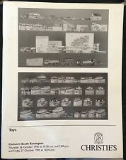 CHRISTIES asta catalogo Toys 26-27/10/1995 HORNBY DINKY MATCHBOX solido