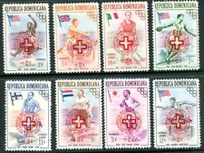 DOMINICAN REPUBLIC 1957 RED CROSS - OLYMPICS - HUNGARIAN REFUGEES MINT SET!
