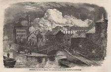 DESTRUCTION BY FIRE OF MESSRS HINE AND MUNDELLAS HOSIERY FACTORY AT NOTTINGHAM