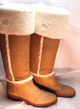 "NEW DIANE VON FURSTENBERG ""ADELE"" Shearling Leather Boots 8.5 NEIMAN MARCUS $675"