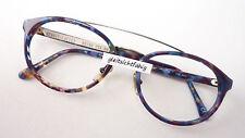 Fassung Brille Gestell ausgefallen oval Doppelsteg Designer Lacoste lila braun M